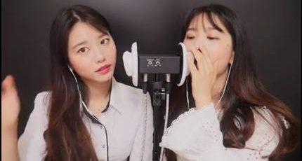 【ASMR-Suna】双胞胎姐妹的湿唇口腔音(合集)